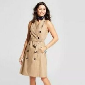 A New Day Vital Voices Sleeveless Belted Trench